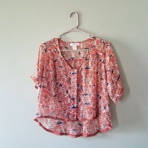 Band of Gypsies high low boho sheer top